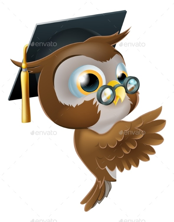 Wise Owl Pointing Sign - Miscellaneous Vectors