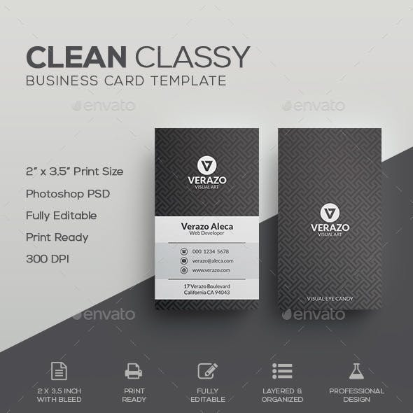 Clean Classy Business Card Template