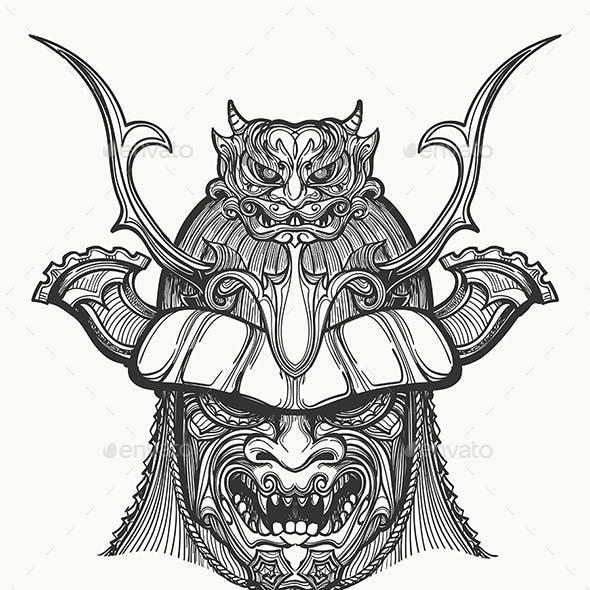 Japan Samurai Mask