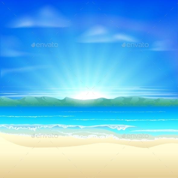 Summer Sand Beach Background - Landscapes Nature