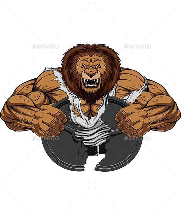 Angry Strong Lion - Sports/Activity Conceptual