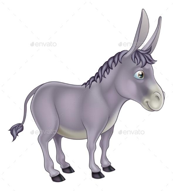 Donkey Cartoon - Animals Characters