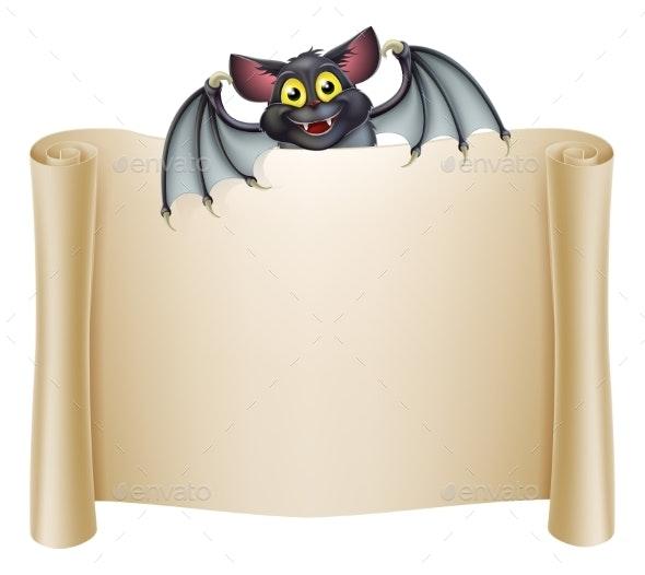 Halloween Bat Banner - Miscellaneous Vectors