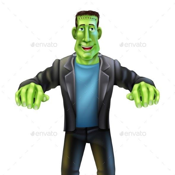 Halloween Cartoon Frankenstein