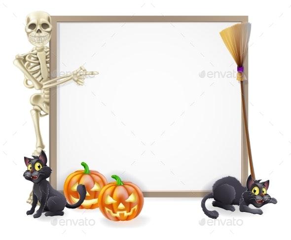 Halloween Skeleton Sign - Miscellaneous Vectors