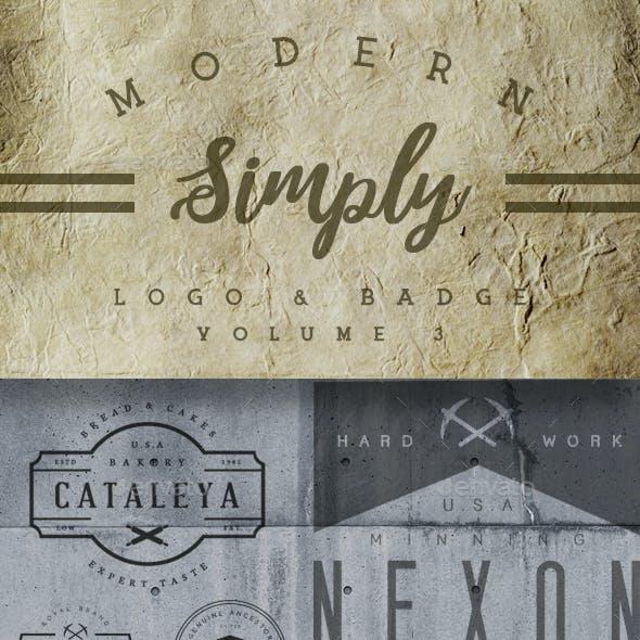 Modern Simply Logo & Badge Vol. 3