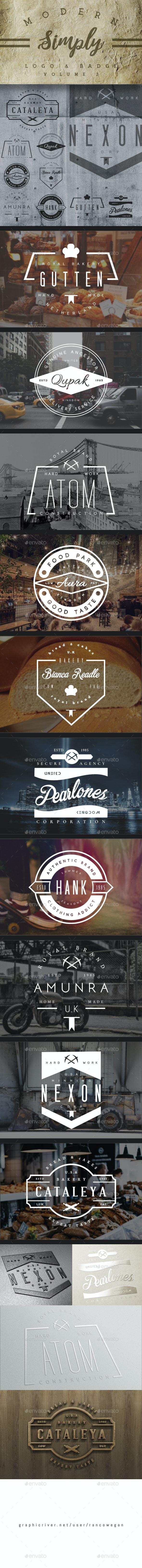 Modern Simply Logo & Badge Vol. 3 - Badges & Stickers Web Elements