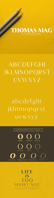Thomas Mag Serif Typeface - Serif Fonts