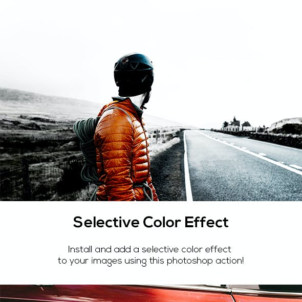 Selective Color Effect Action