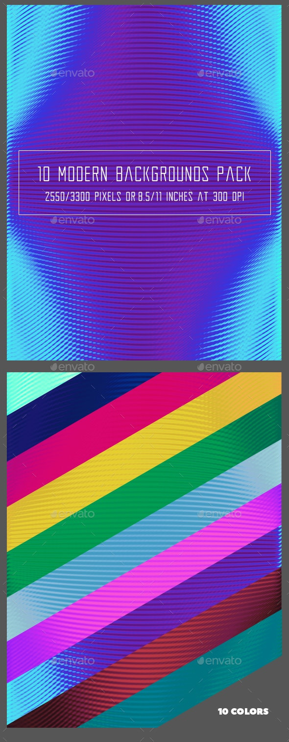 10 Modern Backgrounds Pack - Backgrounds Graphics