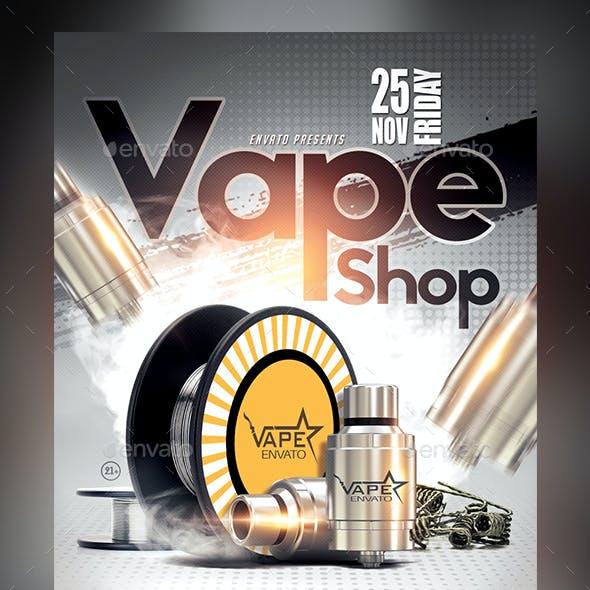 Vape Shop Flyer Template