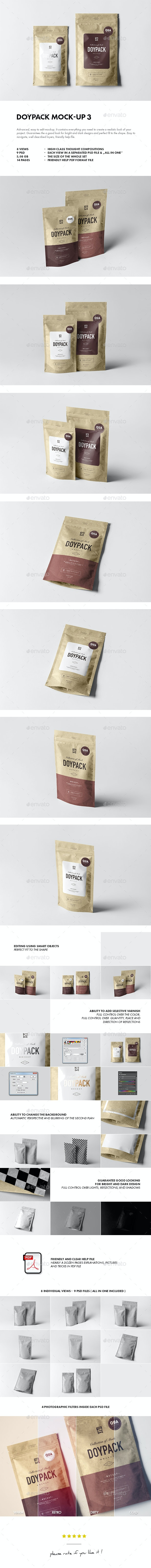 Doypack Mock-up 3 - Miscellaneous Packaging