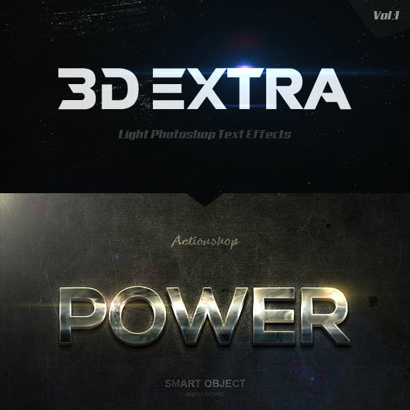 New 3D Extra Light Text Effects Vol.1