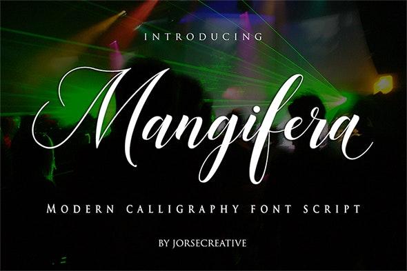 Mangifera Font Script - Script Fonts