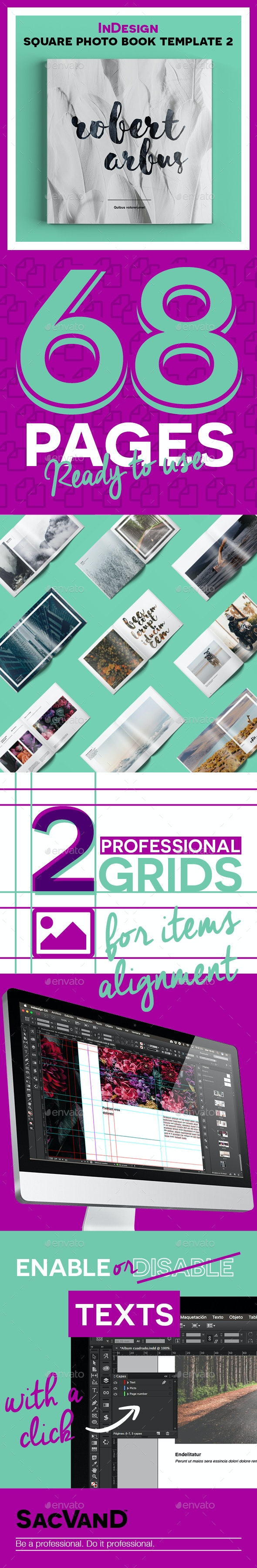 InDesign square photo book template 2 - Portfolio Brochures