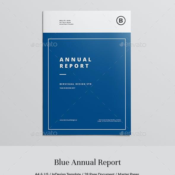 Blue Report Template