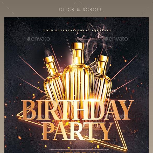 Classy Birthday Party | Flyer Templates