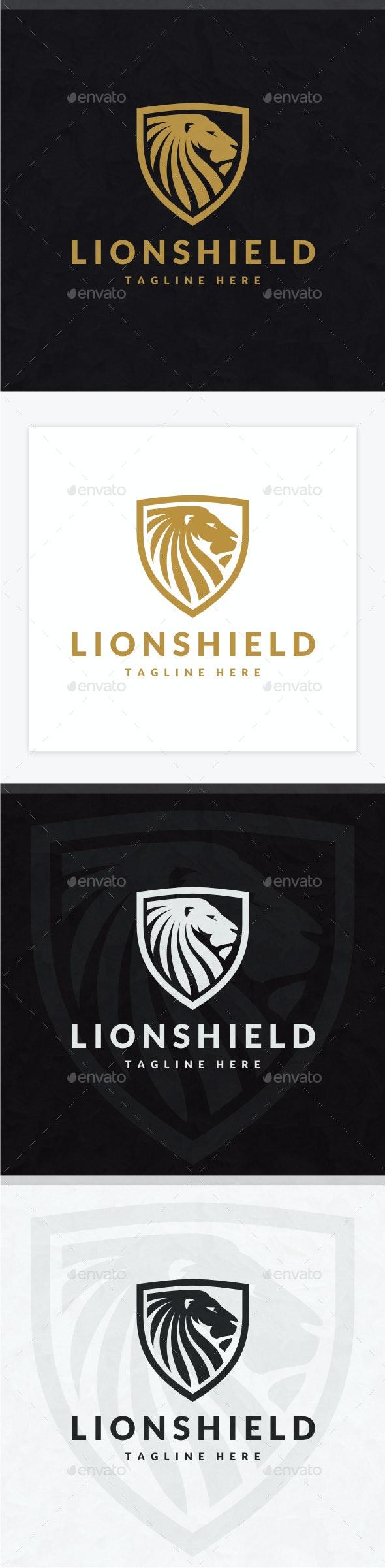 Lion Shield Logo - Animals Logo Templates