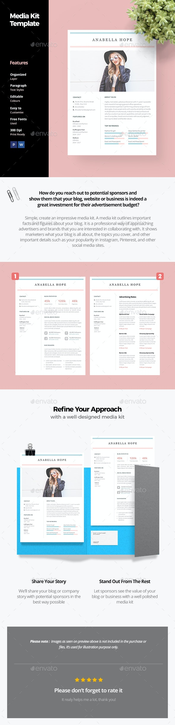 Media Kit Template - Proposals & Invoices Stationery