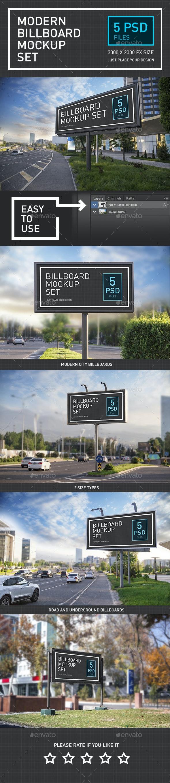 Modern Billboard Mock-up Set - Signage Print
