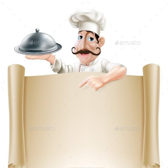 Cartoon Cook Menu Scroll