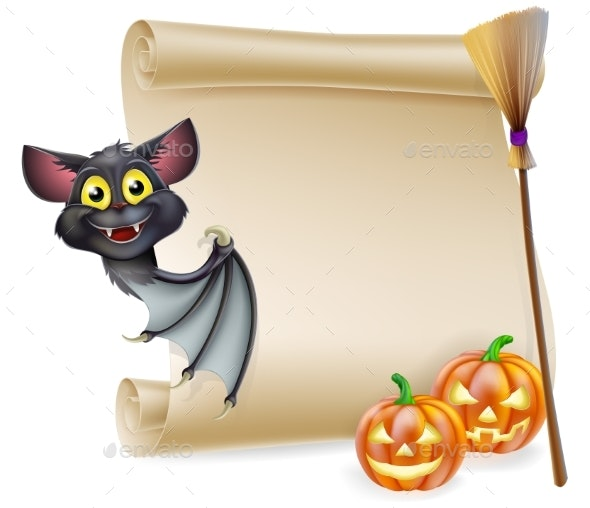 Halloween Scroll with Space - Miscellaneous Vectors