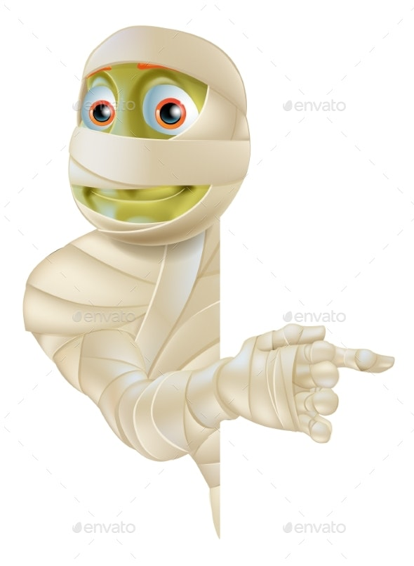 Halloween Mummy Pointing - Monsters Characters