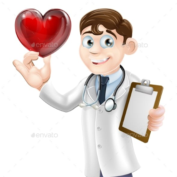 Cartoon Heart Doctor
