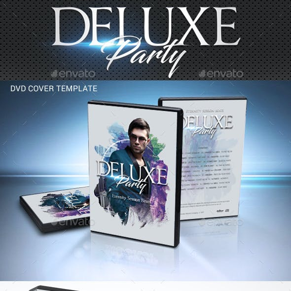 Deluxe Dj Party DVD Cover Template