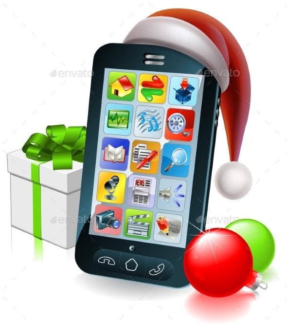 Christmas Mobile Phone Illustration - Christmas Seasons/Holidays