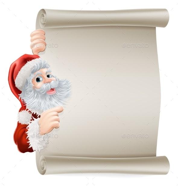 Santa Christmas Poster - Christmas Seasons/Holidays