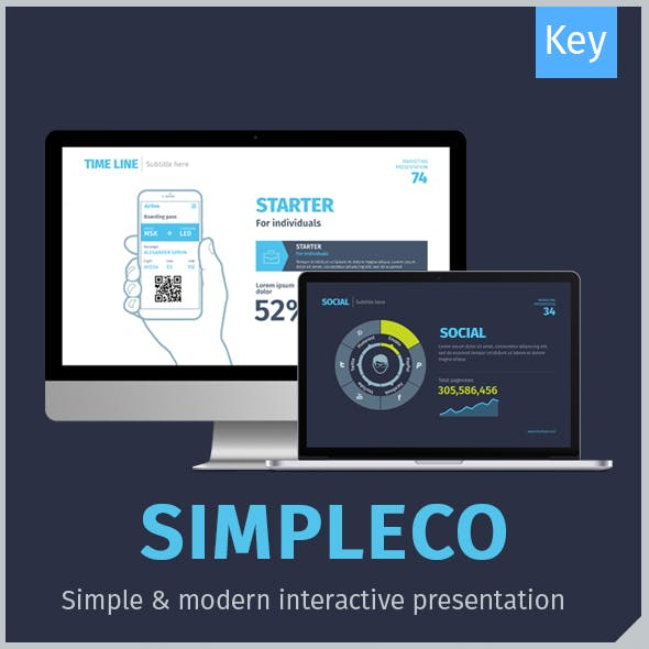 SIMPLECO: Minimalistic Business Keynote Template