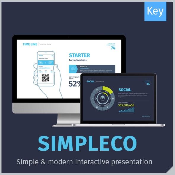 SIMPLECO: Minimalistic Business Keynote Template - Keynote Templates Presentation Templates