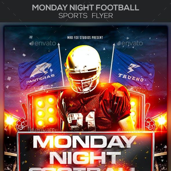 Monday Night Football Sports Flyer