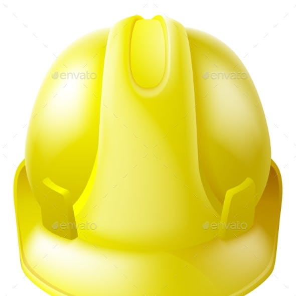 Yellow Hard Hat Safety Helmet