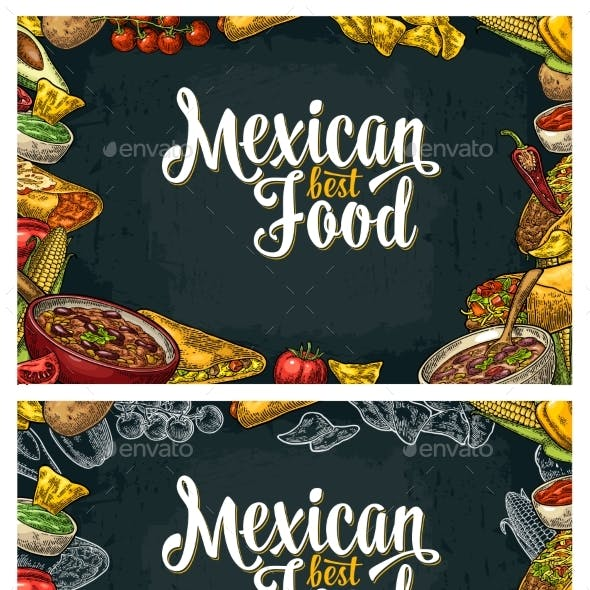 Mexican Traditional Food Restaurant Menu Template