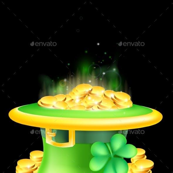 Leprechaun Hat Full of Gold
