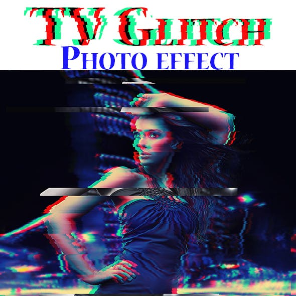 TV Glitch Photoshop Action