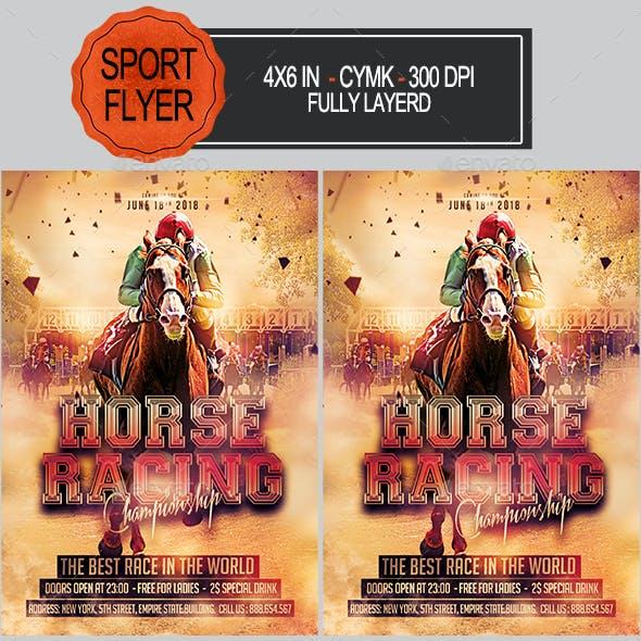 Horse Racing Championship Flyer