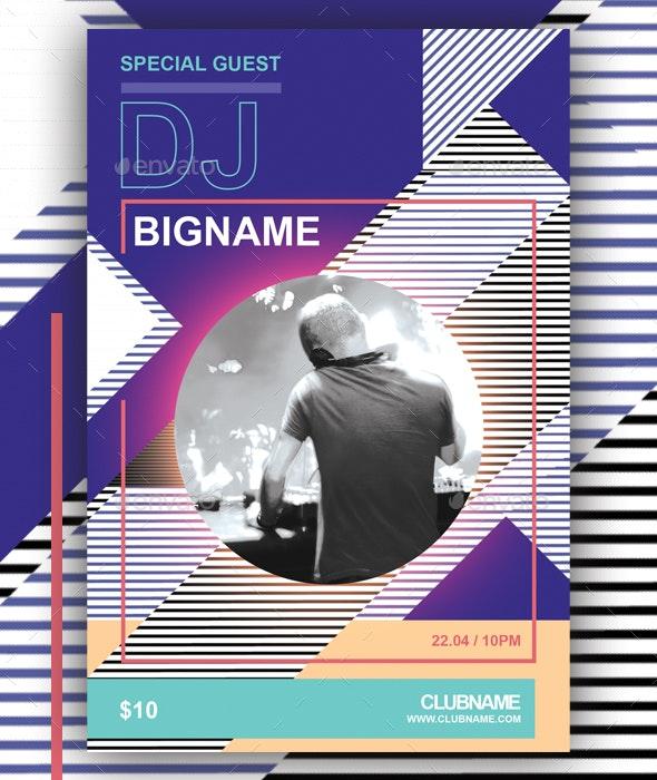 DJ Flyer Geometric - Events Flyers