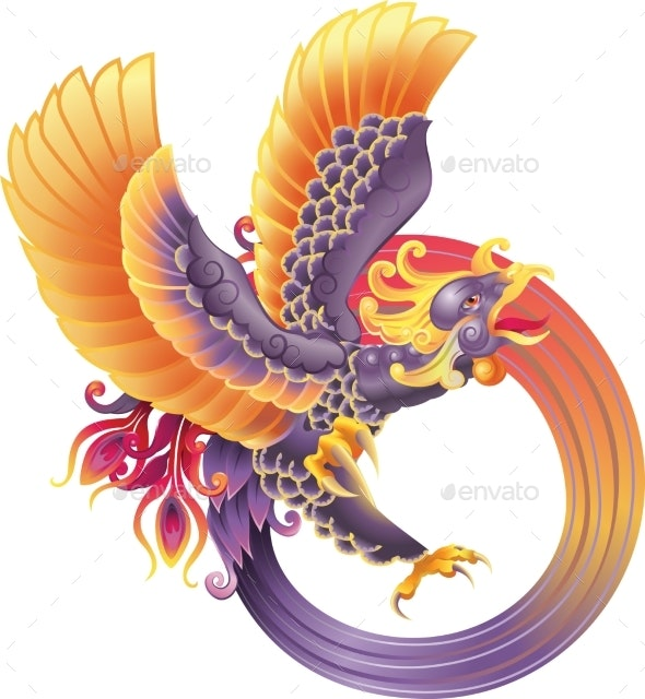Phoenix Fire Bird - Animals Characters