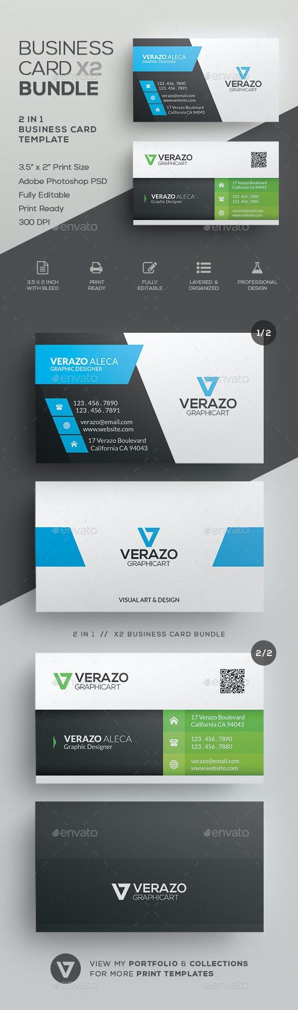 Business Card Bundle 30 - Corporate Business Cards