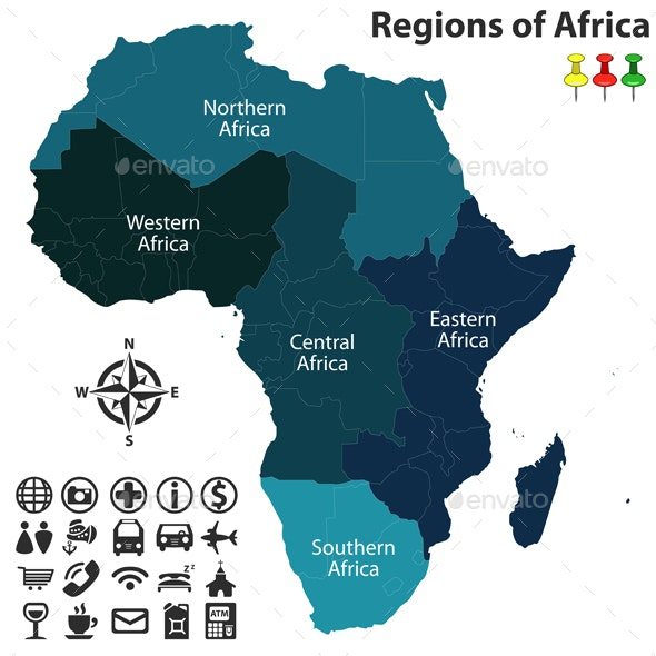 Regions of Africa - Travel Conceptual