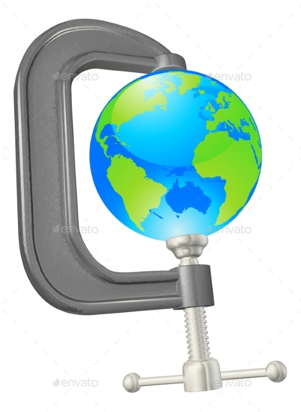 Clamp Globe Concept - Miscellaneous Vectors