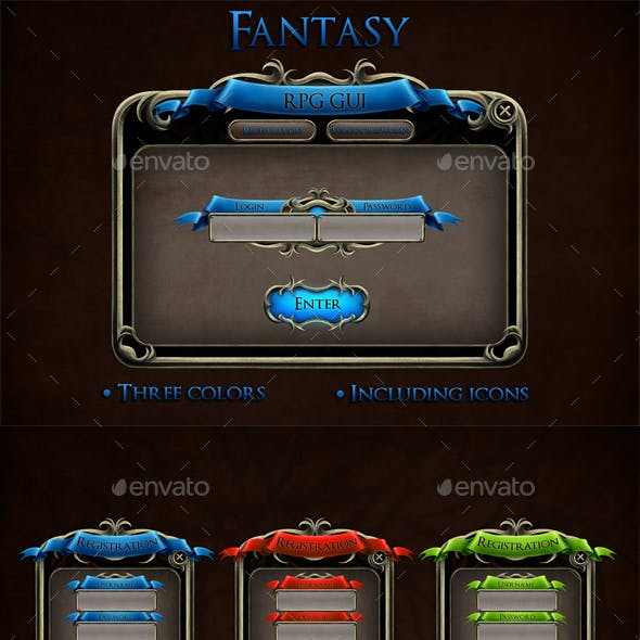 Fantasy RPG User Interface