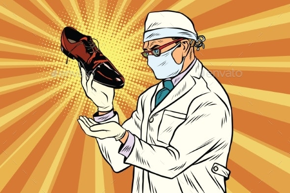 Scientist Chemist Explores Shoes - Man-made Objects Objects