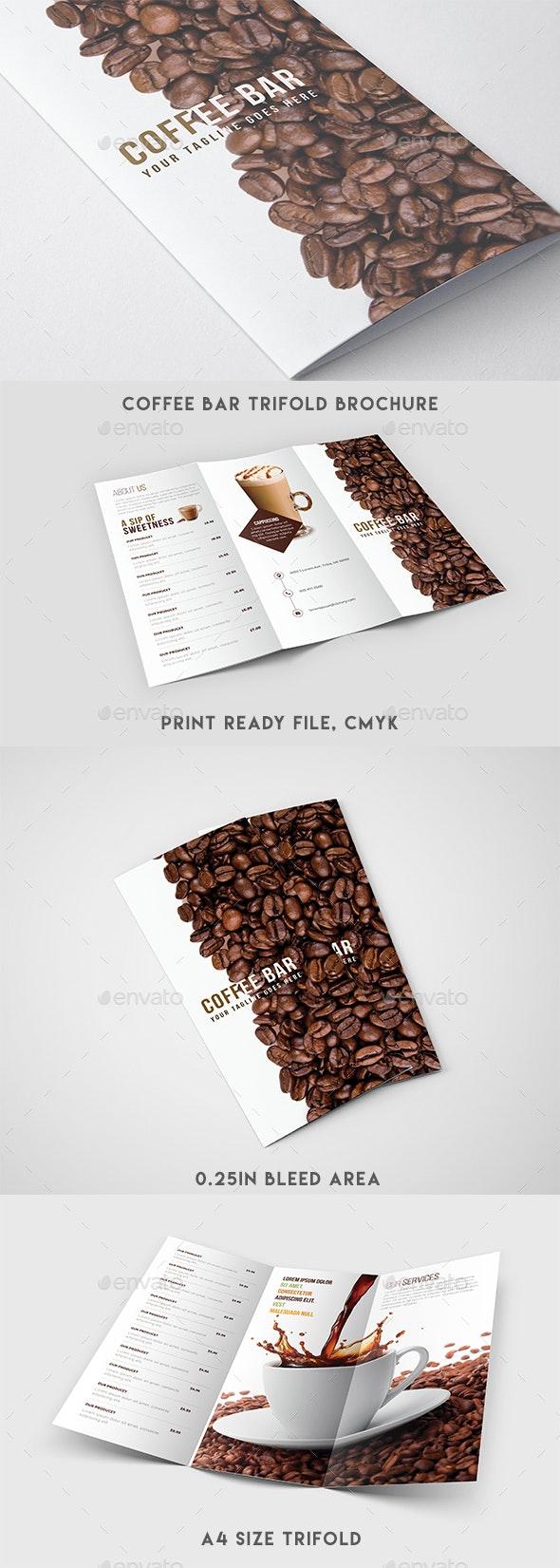 Trifold Brochure - Coffee Menu - Brochures Print Templates