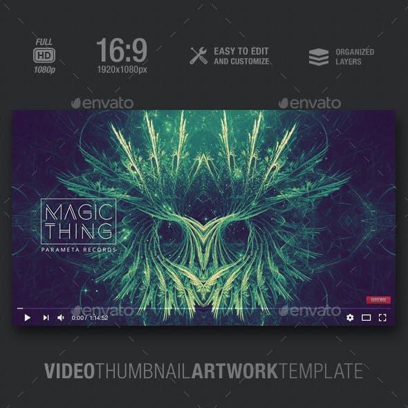 Magic Thing - Music Video Thumbnail Artwork Template