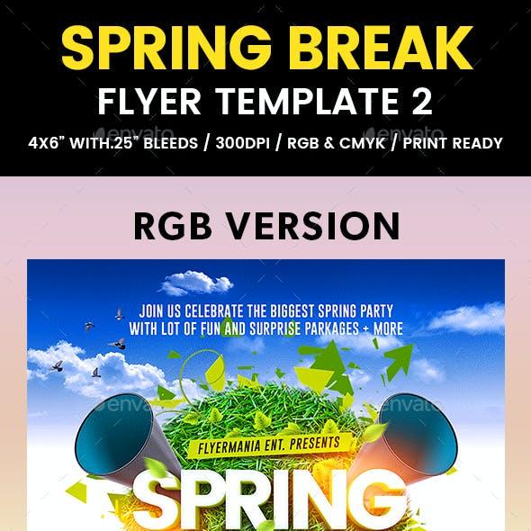 Spring Break Flyer Template 2