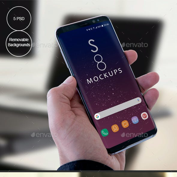 S8 Galaxy Modern Android Mockups-Apps Ui Showcase